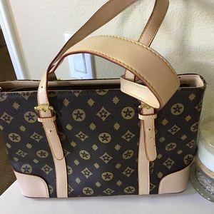 Handbags - Brown purse with tan trim